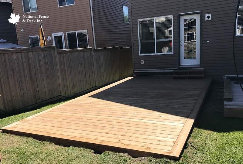 Ground Level Pressure Treated Wood Deck